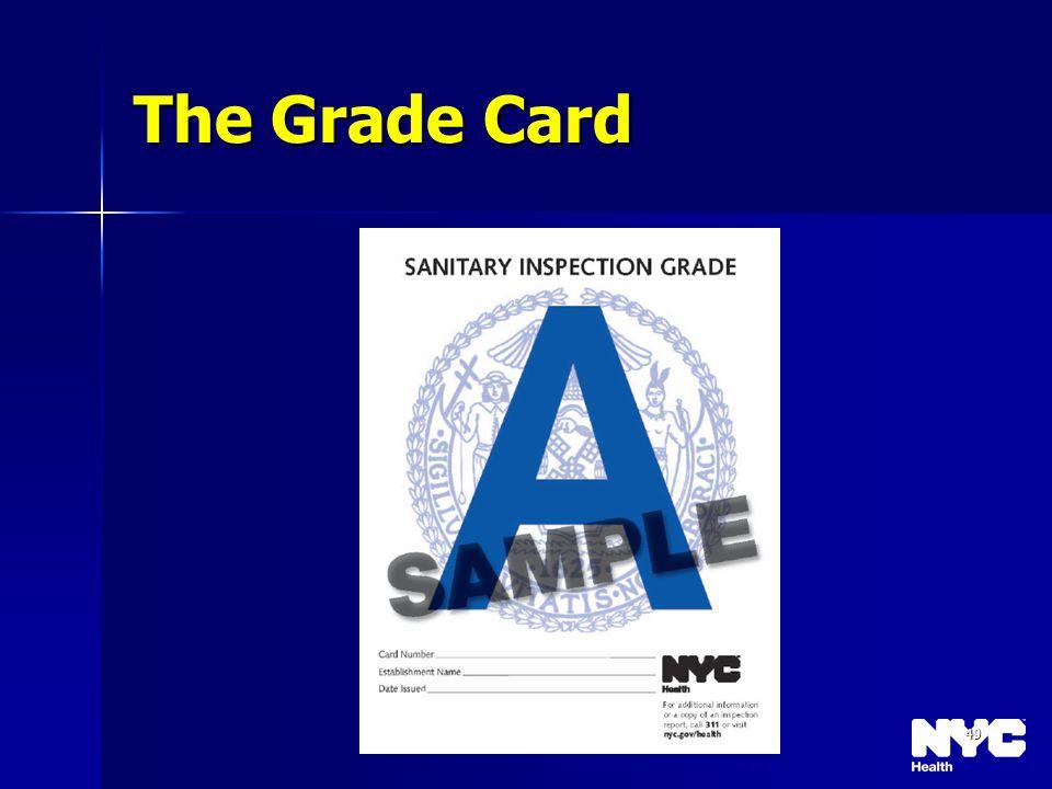 49 The Grade Card