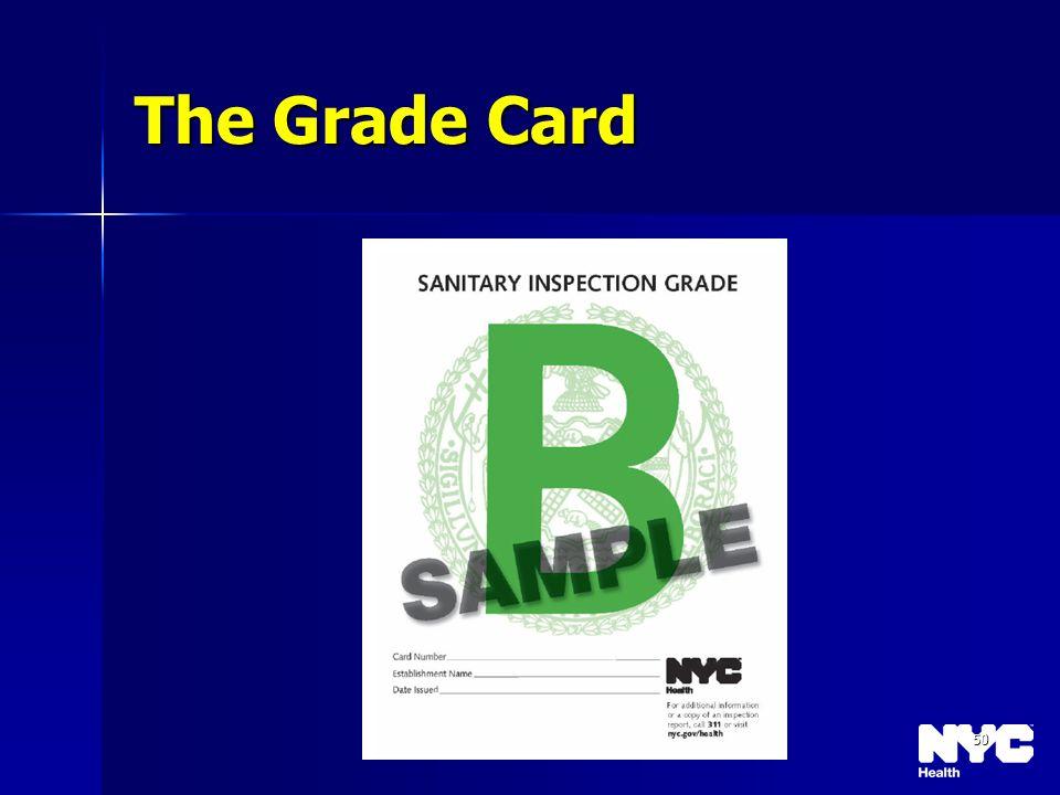 50 The Grade Card