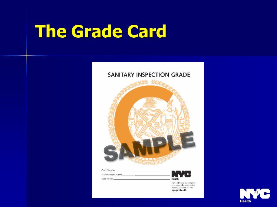 51 The Grade Card
