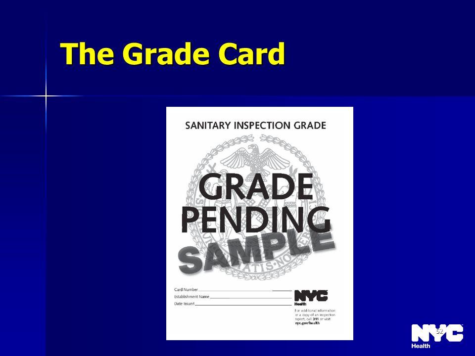 52 The Grade Card