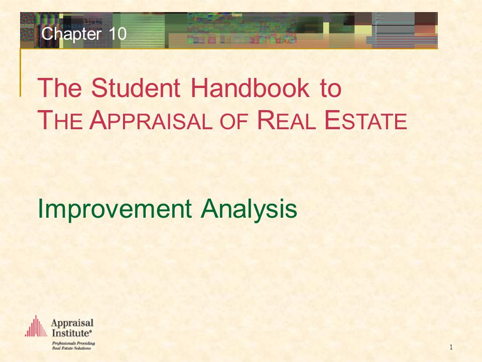 Student Handbook to T HE A PPRAISAL OF R EAL E STATE Chapter 10 2 Property Inspection Building Description Elements of a Building Description Use Classification and Building Codes Size Format