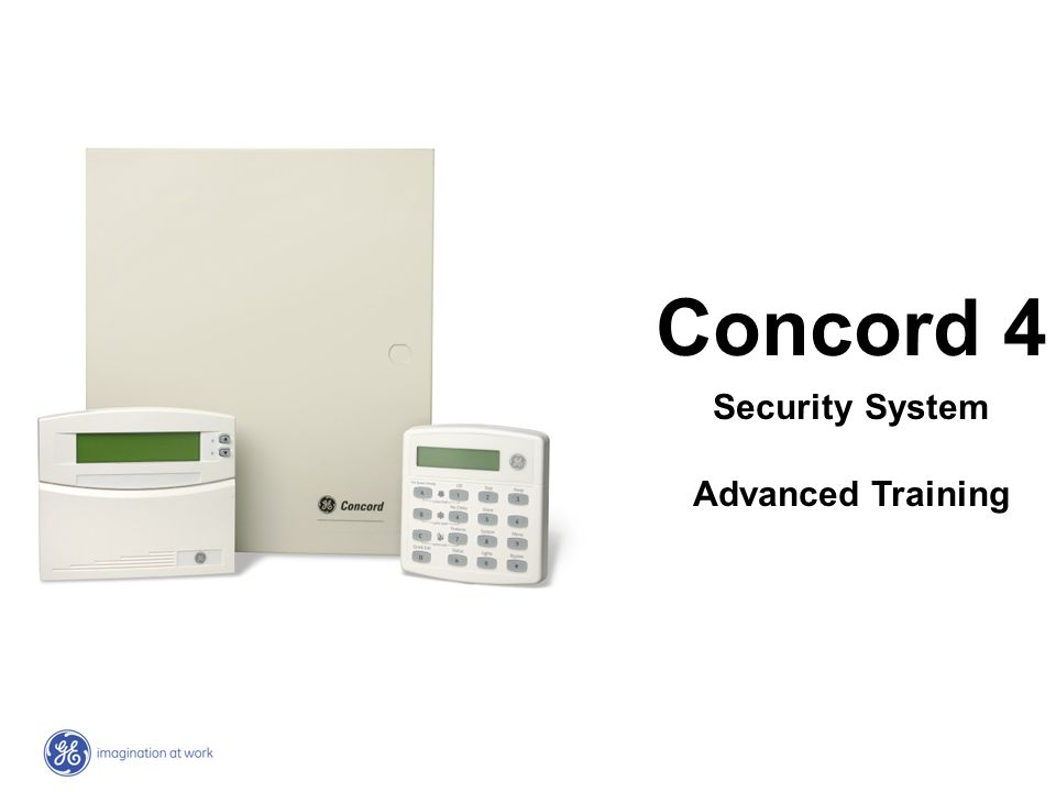 Concord 4 Security System Advanced Training