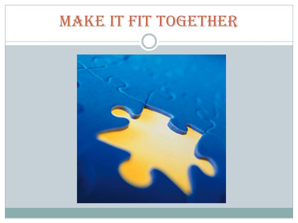 Make it Fit Together