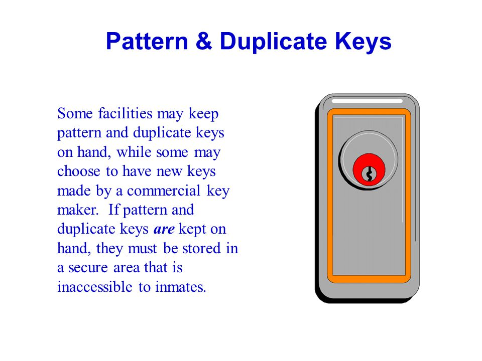 General Guidelines: Key Security, contd.