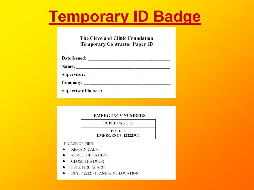 Temporary ID Badge