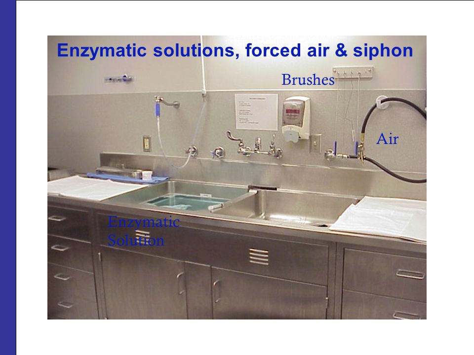 Enzymatic solutions, forced air & siphon Air Enzymatic Solution Brushes