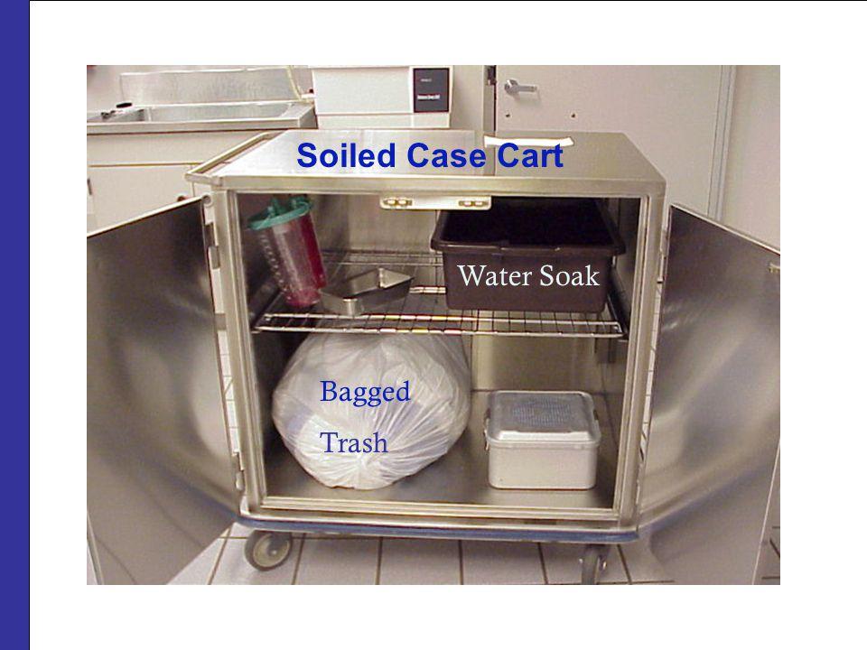 Soiled Case Cart Bagged Trash Water Soak