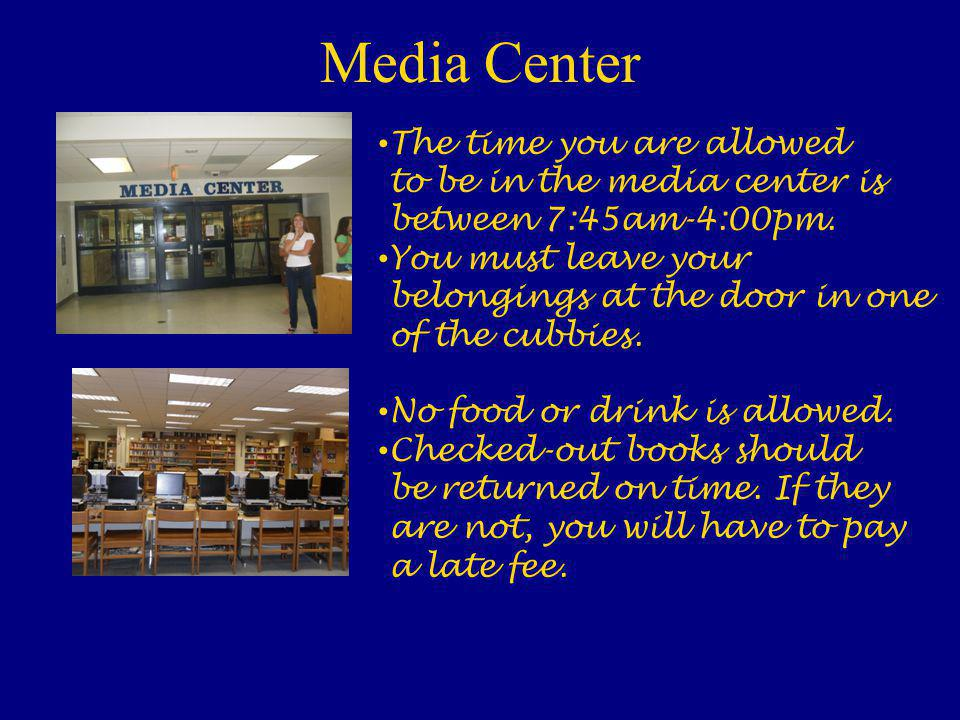 Attendance Attendance office: If you are late coming to school or leaving school early, this is where you would need to go to check in and out. You ca