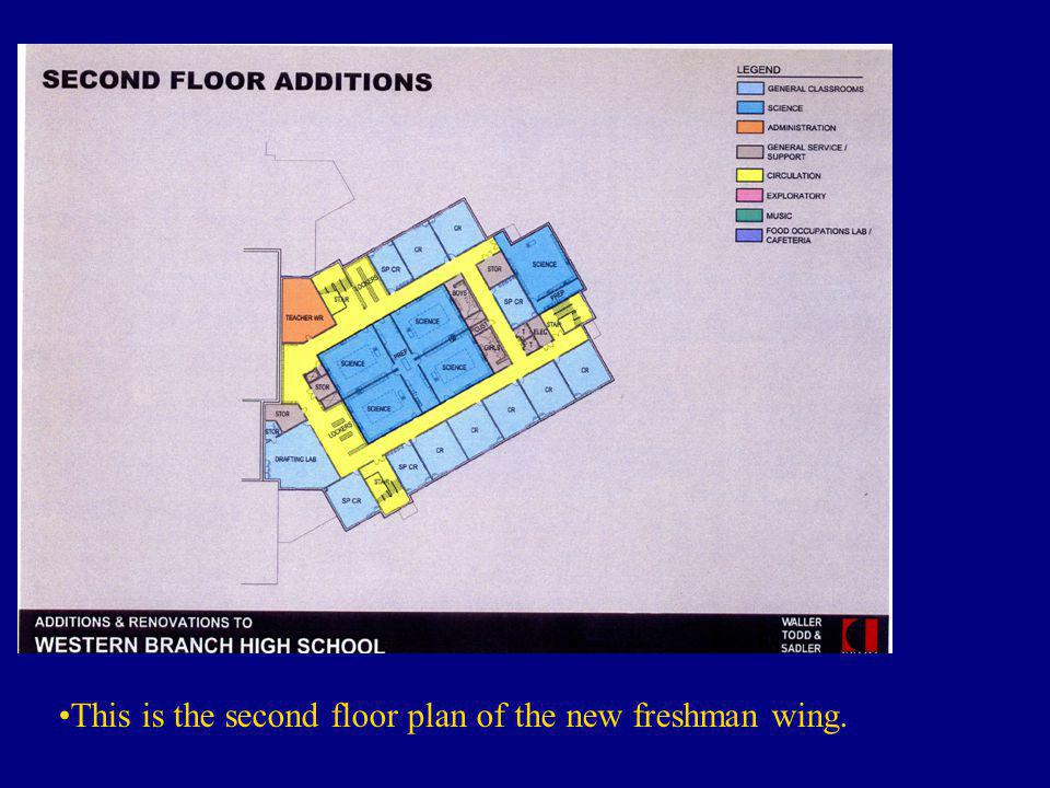 This is what the first floor of the school is predicted to look like once all of the renovations have been completed.