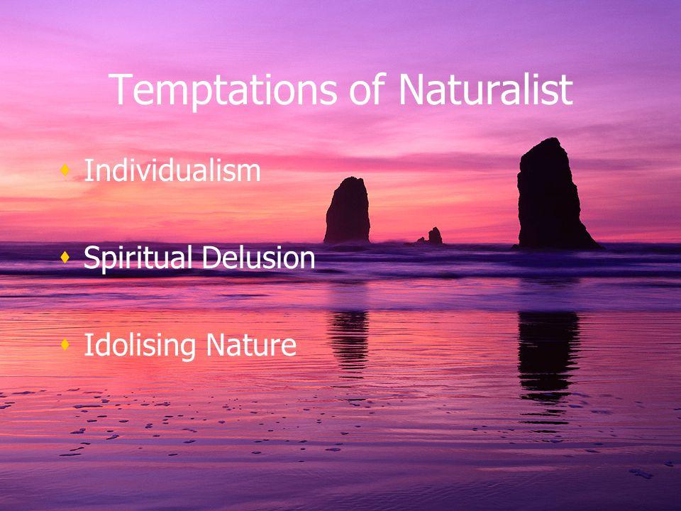 Temptations of Naturalist Individualism Spiritual Delusion Idolising Nature Individualism Spiritual Delusion Idolising Nature
