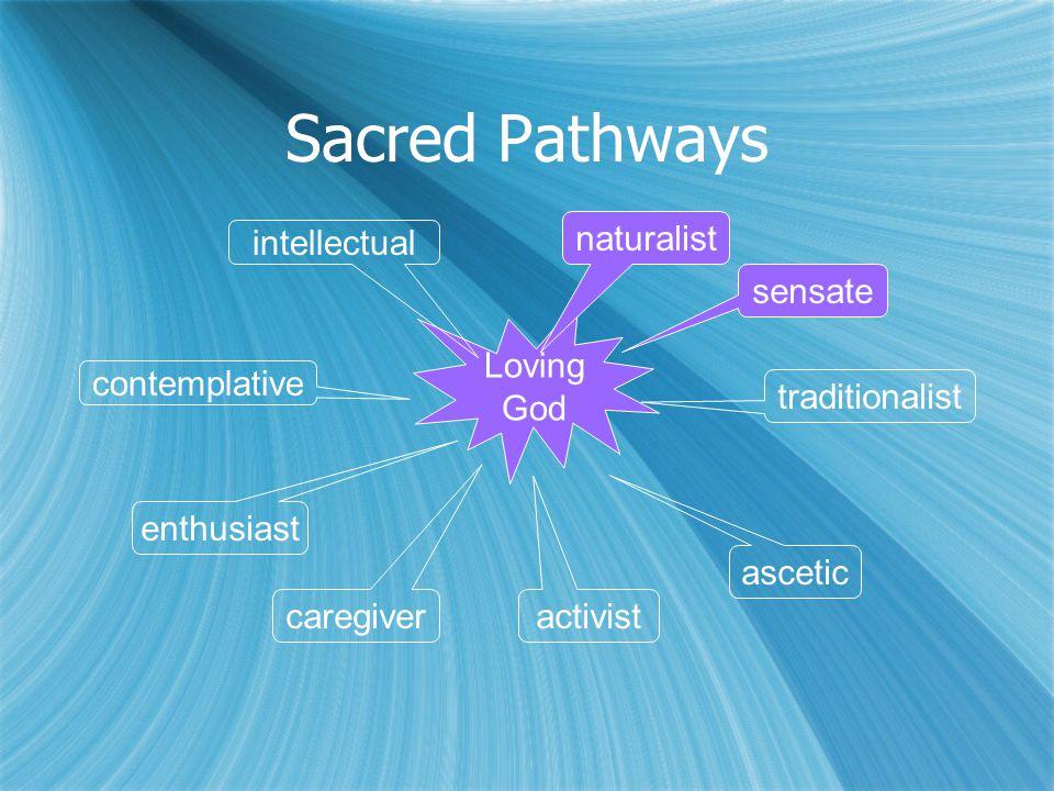 Sacred Pathways Loving God naturalist sensate traditionalist ascetic activist caregiver enthusiast contemplative intellectual