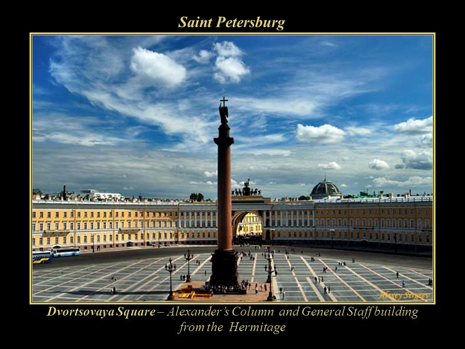 Saint Petersburg ___________________ Founded by Tsar Peter the Great on May 27, 1703, it was capital of the Russian Empire for more than two hundred years.