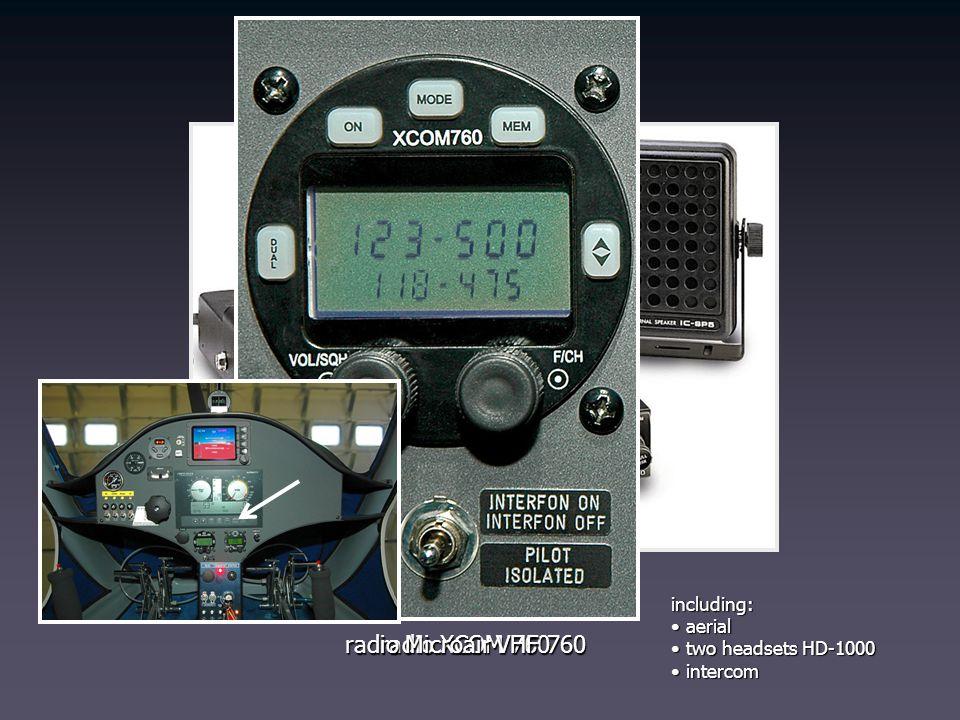 radio Icom IC-A200 including: aerial aerial two headsets HD-1000 two headsets HD-1000 intercom intercom radio XCOM 760 radio Microair VHF 760