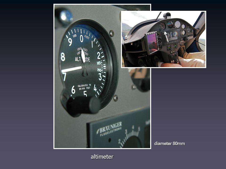 altimeter diameter 80mm