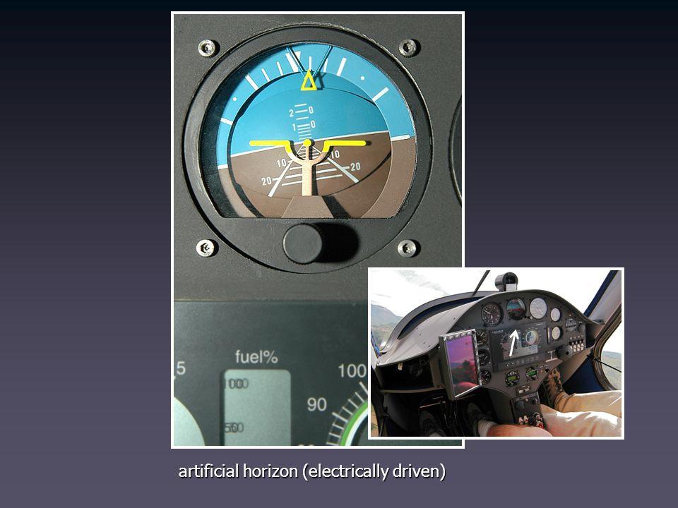 artificial horizon (electrically driven)