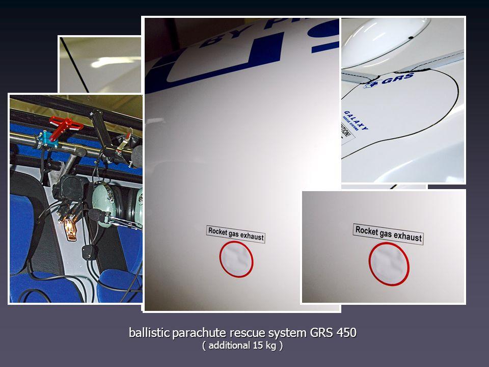 ballistic parachute rescue system GRS 450 ( additional 15 kg )