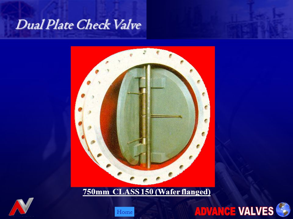 Home 750mm CLASS 150 (Wafer flanged) Dual Plate Check Valve