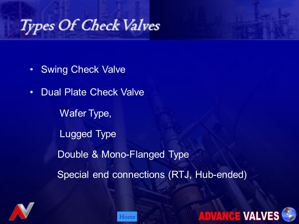 HomeSPECIAL DUAL PLATE CHECK VALVES FROM ADVANCE VALVES