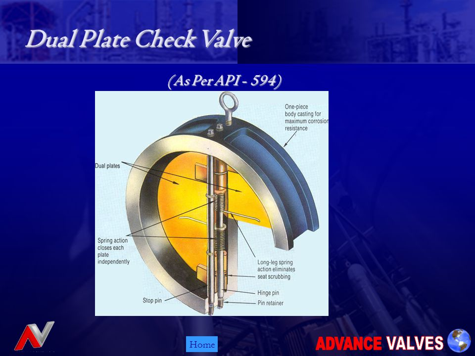 Home Dual Plate Check Valve (As Per API - 594)