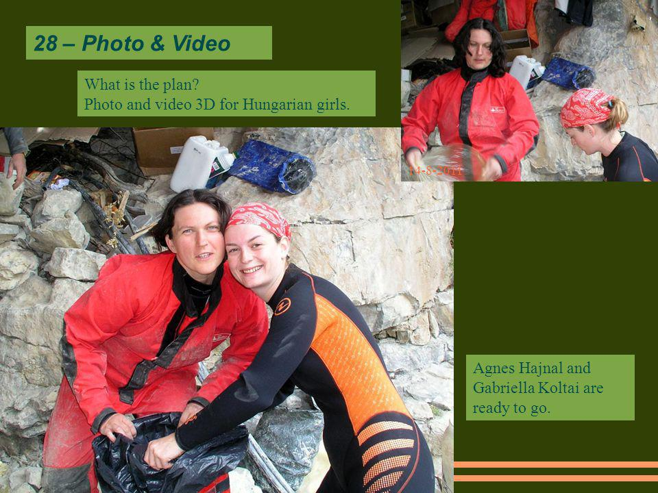 28 – Photo & Video 14-8-2011 What is the plan. Photo and video 3D for Hungarian girls.