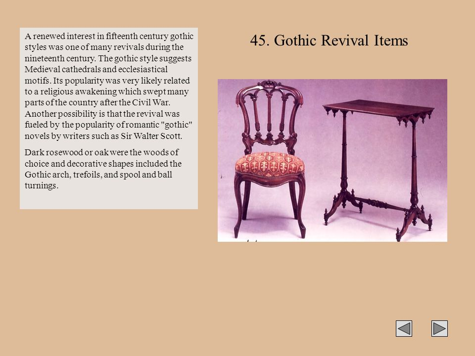 A renewed interest in fifteenth century gothic styles was one of many revivals during the nineteenth century. The gothic style suggests Medieval cathe