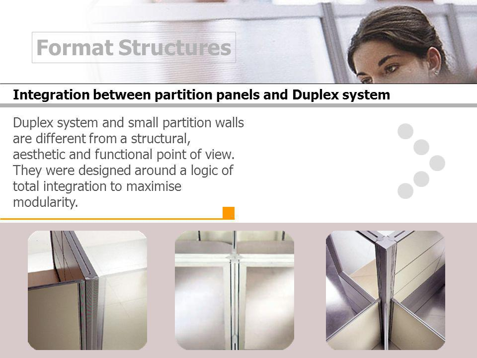 Duplex system and small partition walls are different from a structural, aesthetic and functional point of view.