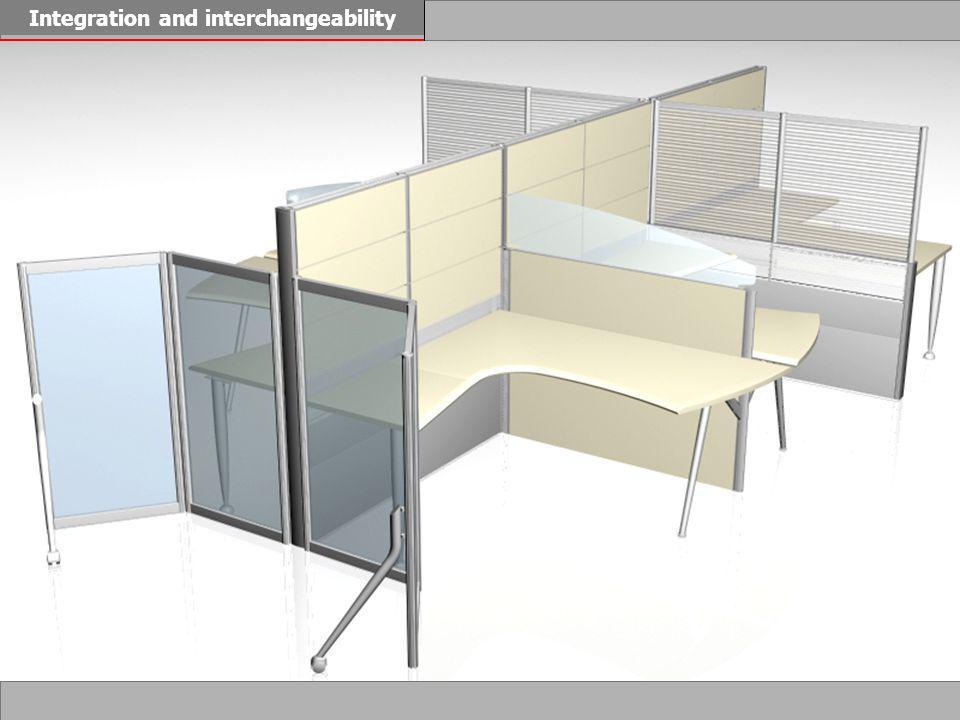 Duplex Light top modules whiteorangebluemetallic silver transparent HypenVenetian blind Ice screen