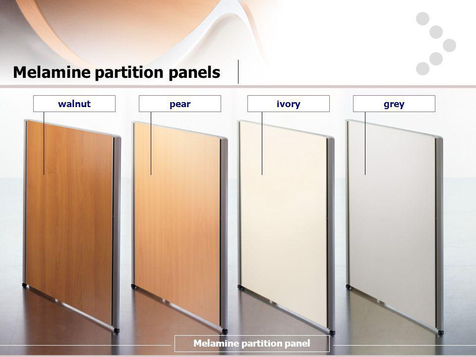 Melamine partition panels peargreyivorywalnut Melamine partition panel