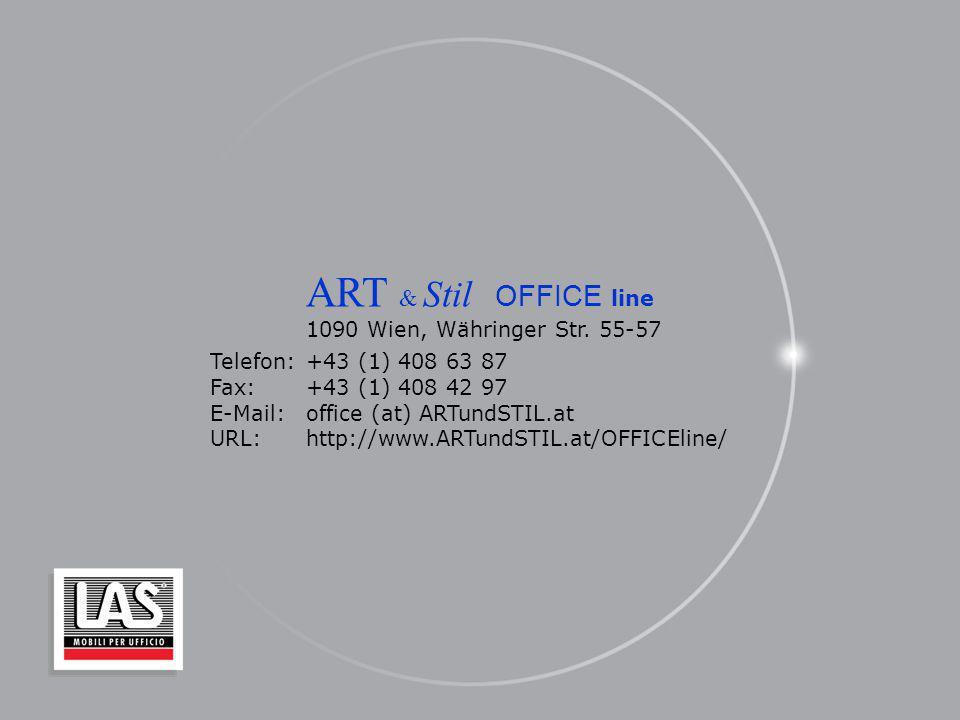 ART & Stil OFFICE line 1090 Wien, Währinger Str. 55-57 Telefon:+43 (1) 408 63 87 Fax: +43 (1) 408 42 97 E-Mail:office (at) ARTundSTIL.at URL:http://ww
