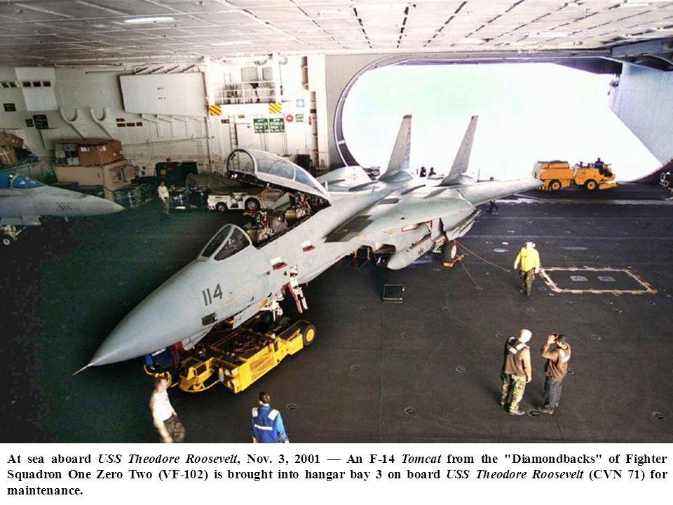 At sea aboard USS Theodore Roosevelt, Nov.