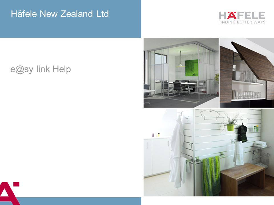 Häfele New Zealand Ltd e@sy link Help