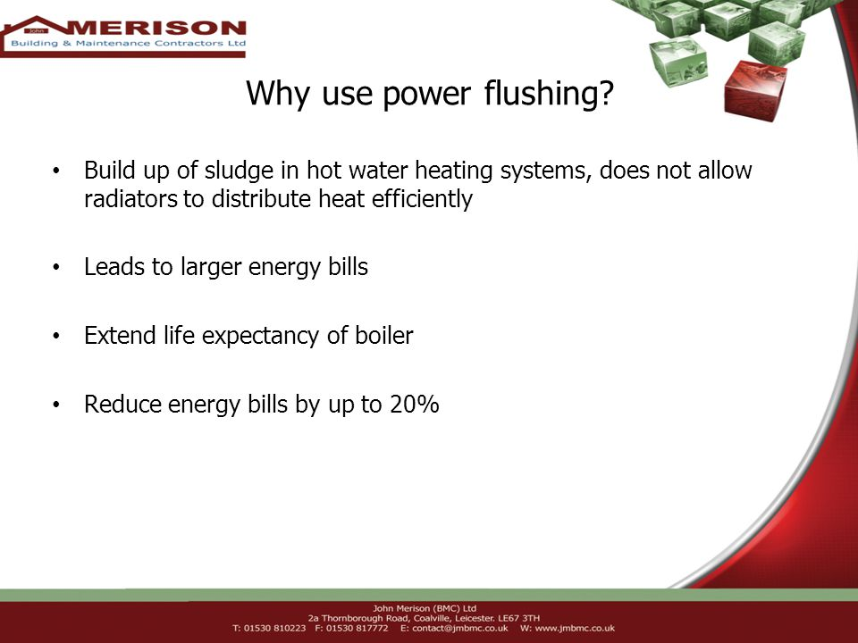 Why use power flushing.
