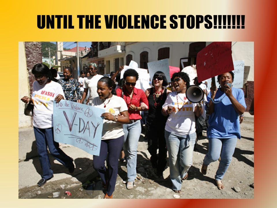 UNTIL THE VIOLENCE STOPS!!!!!!!