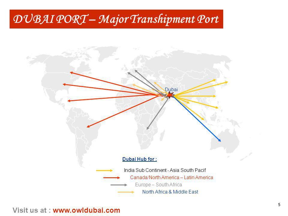 5 Visit us at : www.owldubai.com Dubai India Sub Continent - Asia South Pacif Canada/North America – Latin America Europe – South Africa North Africa