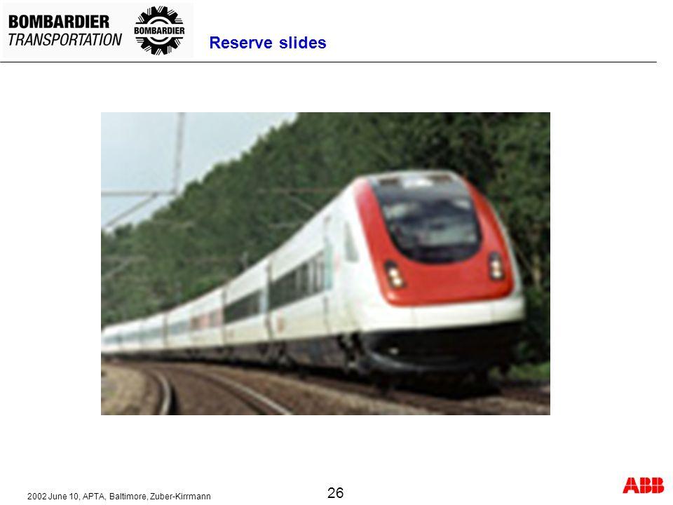 2002 June 10, APTA, Baltimore, Zuber-Kirrmann 26 Reserve slides