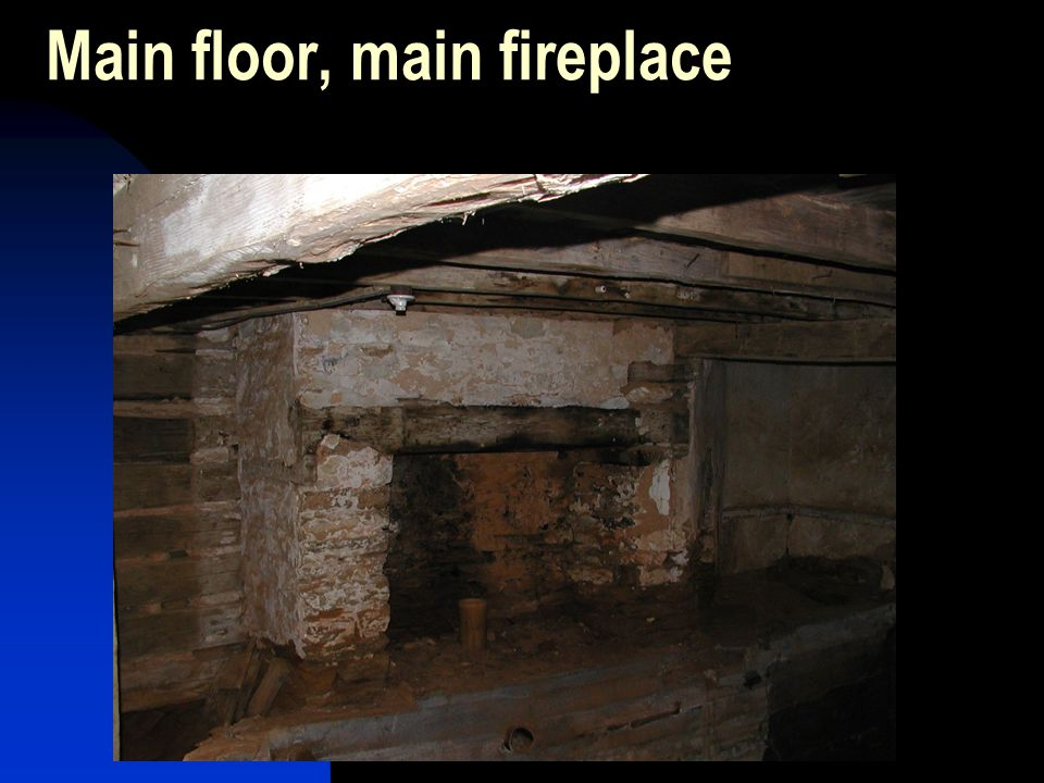 Main floor, main fireplace