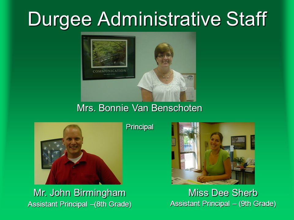 Durgee Administrative Staff Mrs.