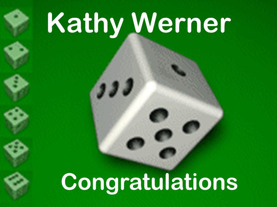 Kathy Werner Congratulations
