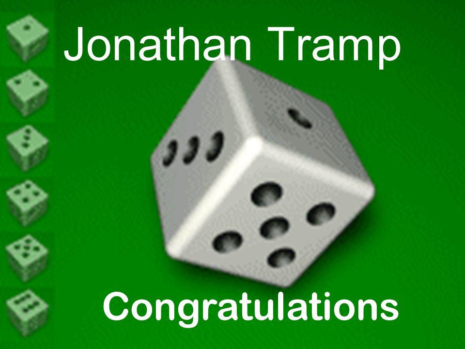 Congratulations Jonathan Tramp