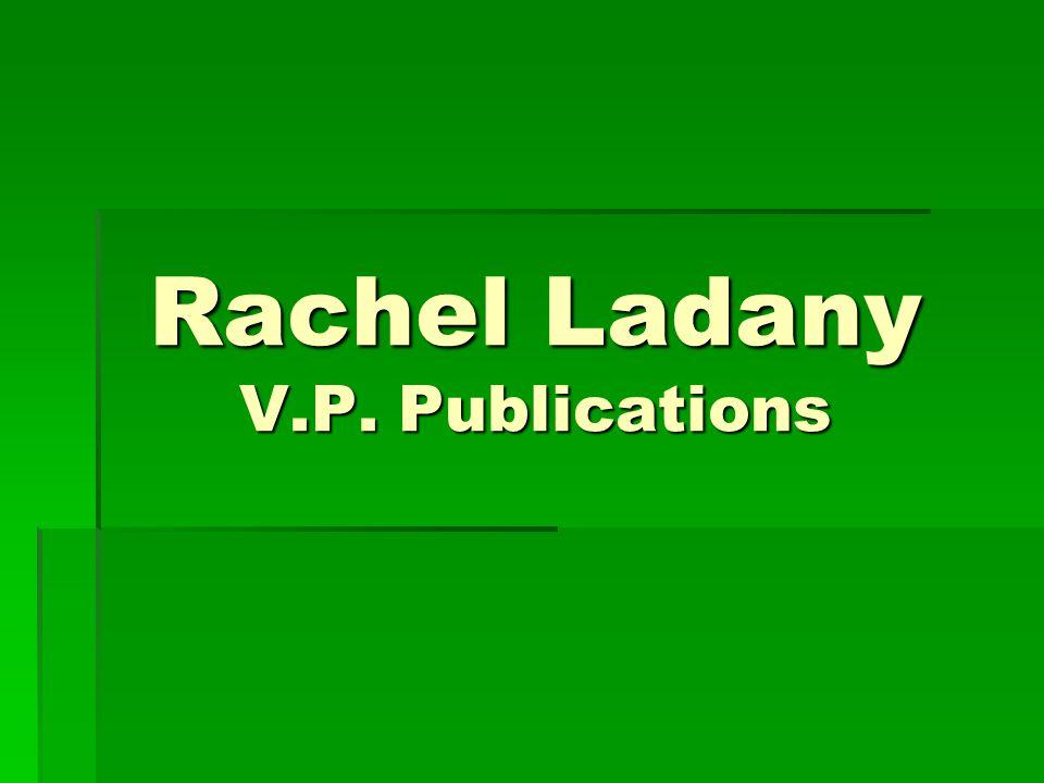 Rachel Ladany V.P. Publications