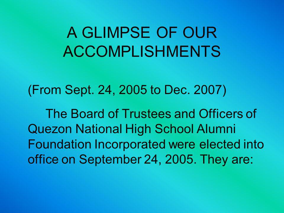 QUEZON HIGH THEN AND NOW… Theres also an uncontrolled ingress and egress of the public.