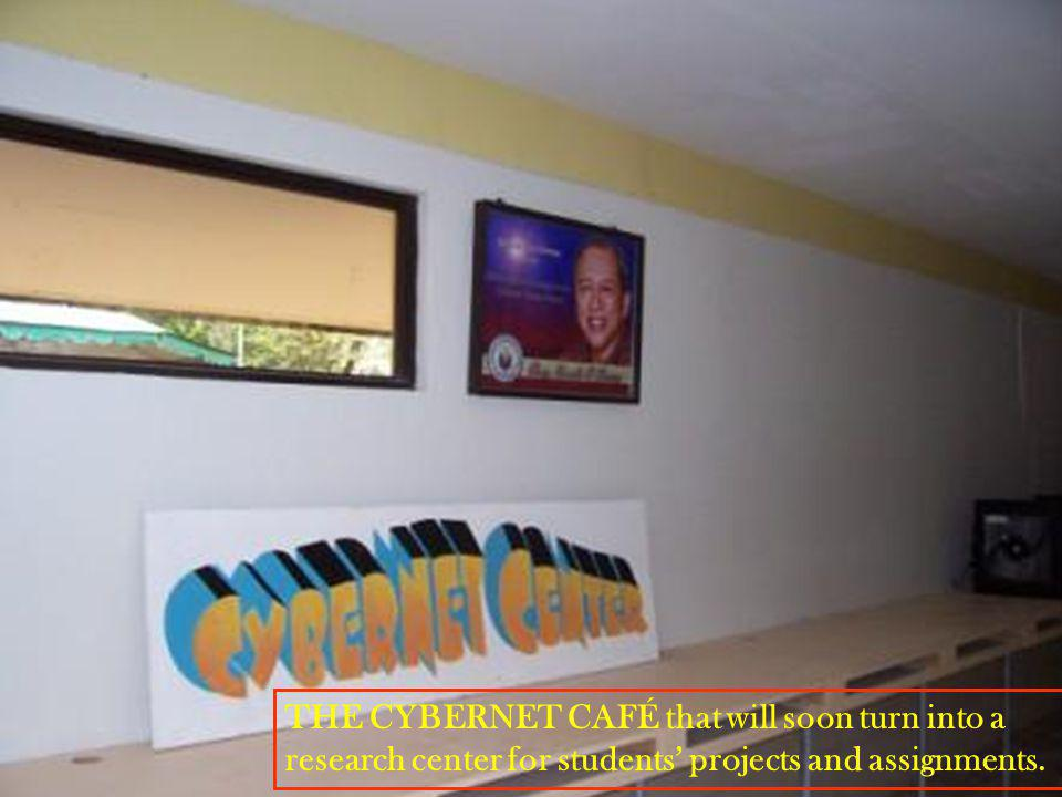 THE CYBERNET CAFÉ with complete computer units and air conditioning.