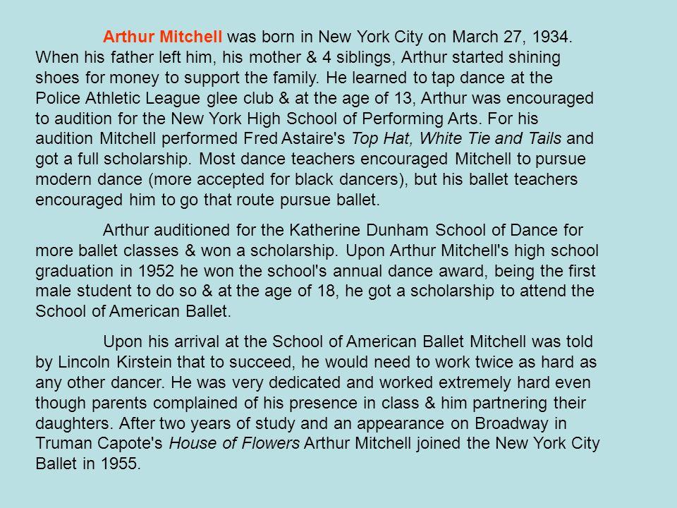 http://www.dancetheatreofharlem.com/ Arthur Mitchell DANCEDANCE