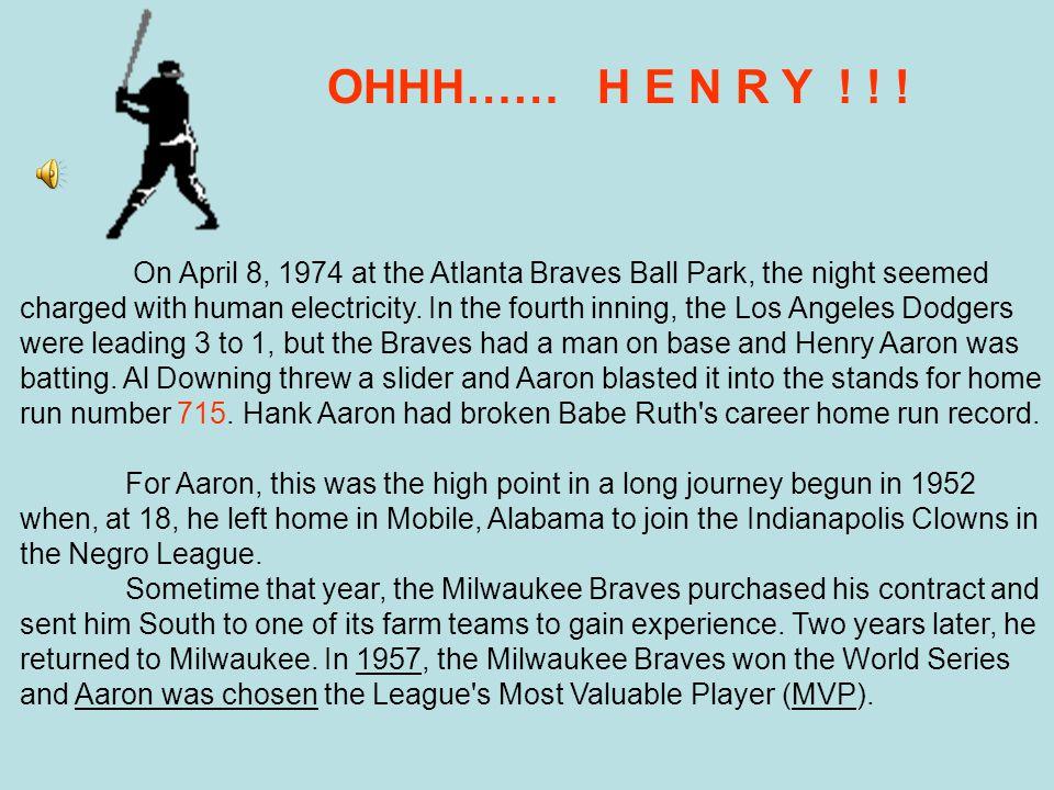 1996 Honorees – Henry Aaron