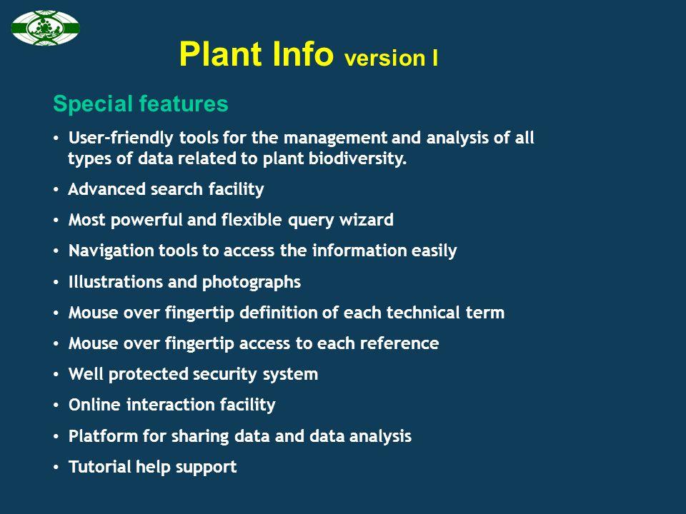 Left popyup menu for data accession Drop-down menu for data accession