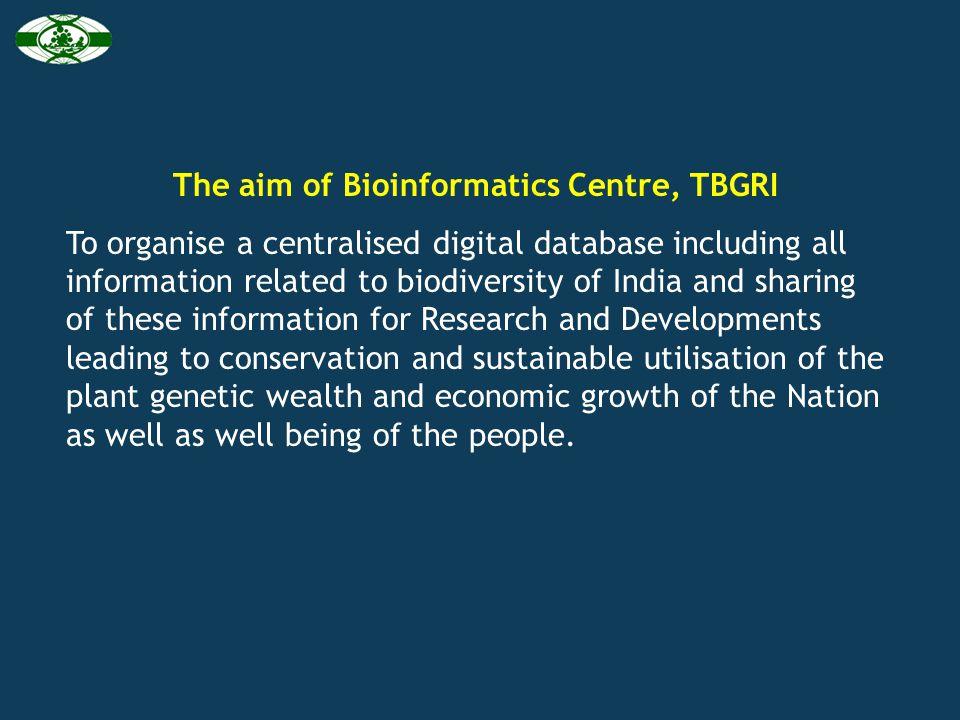 Institutions specialised on biodiversity informatics under BTIS program