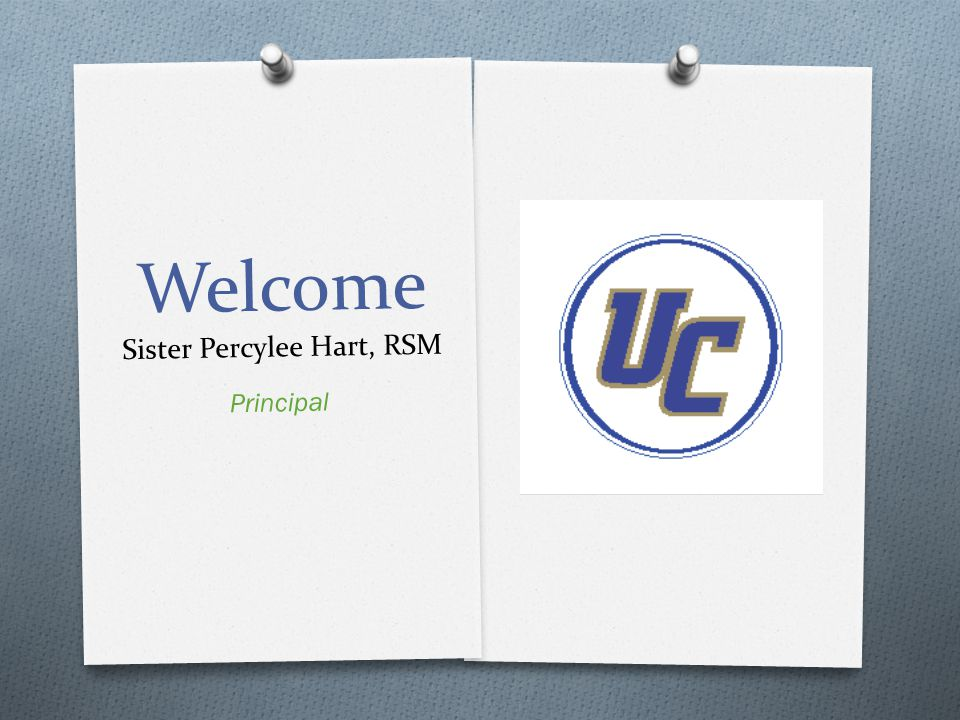 Welcome Sister Percylee Hart, RSM Principal