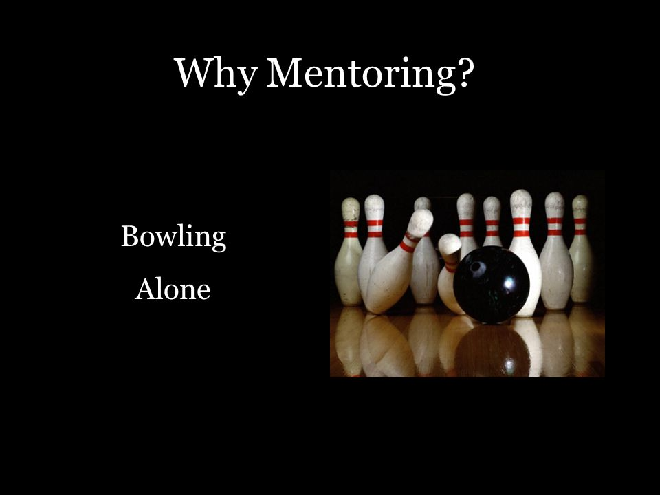 Why Mentoring? Bowling Alone