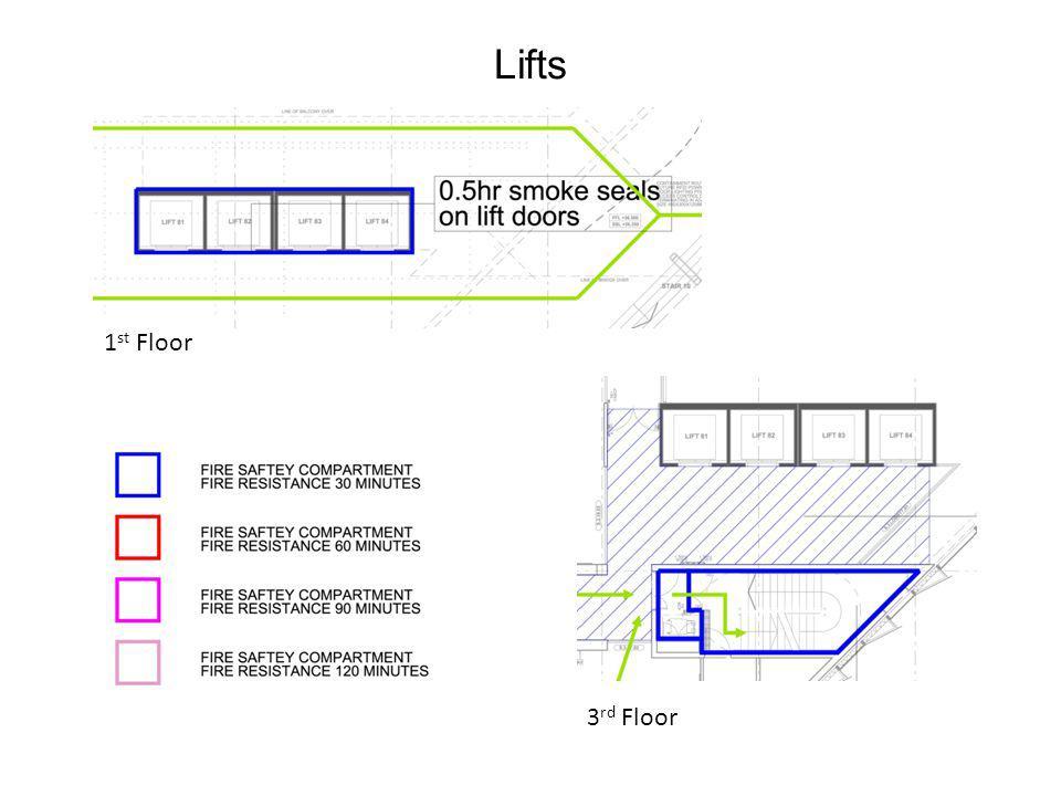 Lifts 1 st Floor 3 rd Floor