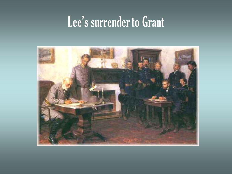 Lees surrender to Grant